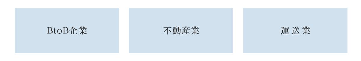 BtoB型ホームページ対応業種例